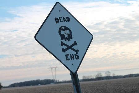 dead end: dead end Stock Photo