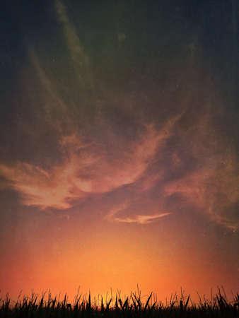 A dulled but uniquely vivid sunset picture. Stock fotó