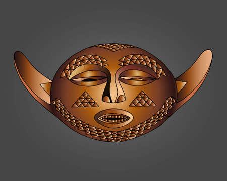 Pende Mask vector illustration
