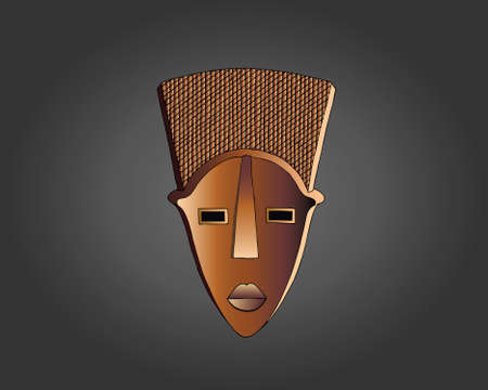 Lwalwa Mask vector illustration Иллюстрация