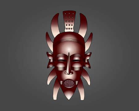 Senufo Mask vector illustration