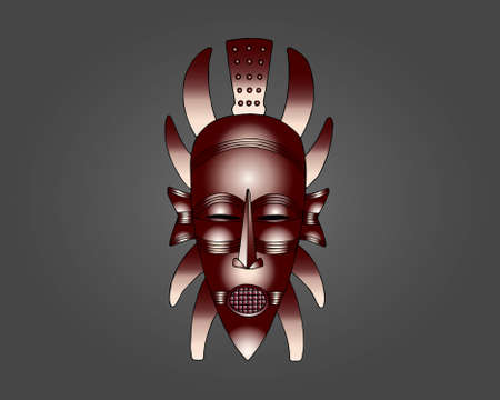 Senufo Mask vector illustration