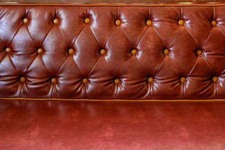 Background of red leather chairs photo
