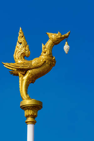 Swan golden Mythic animals of Thailand photo