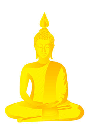 Golden Buddha statue Stock Vector - 28499049