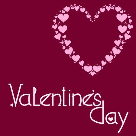 Valentines Day. Greeting postcard. Vector illustration.