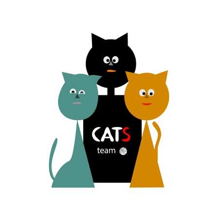 A team of cats. Ilustrace