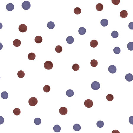 Endless pattern in Polka-Dot. Perfect for your design, textile,  pattern fills, posters, cards, web page background etc. Pattern under the mask. Standard-Bild - 122485336