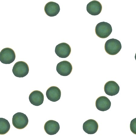 Abstract Pattern Coloring of green dots. For your design. Vector.