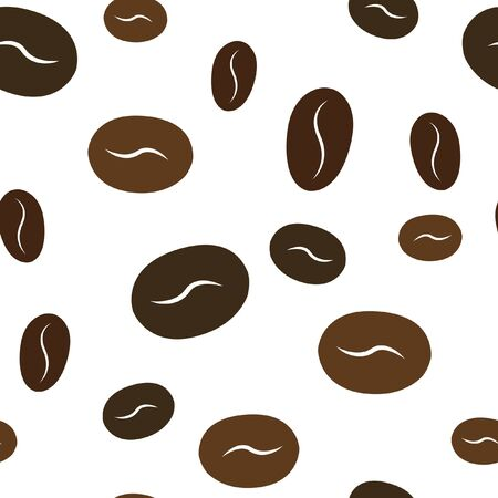 Coffee beans seamless pattern. Perfect for your design. Vector. Illustration