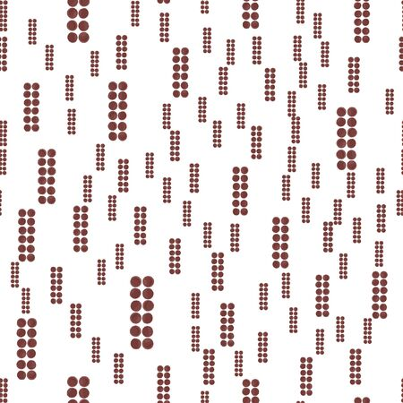 Abstract Seamless pattern of brown color figure. For your design. Vector.