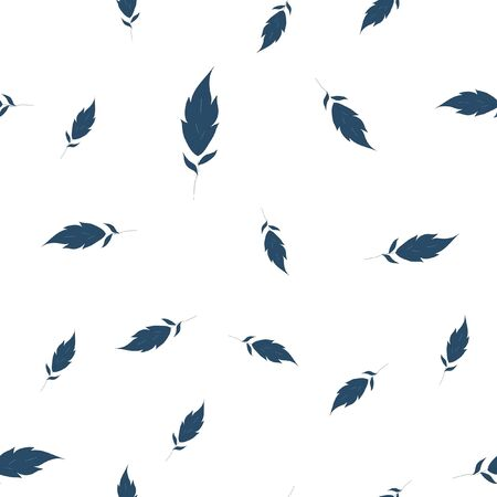 Background with Very dark blue leaves. Seamless pattern. Vector image for your design.