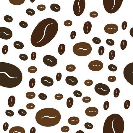 Seamless Coffee Pattern. Vector image for your design. Illustration