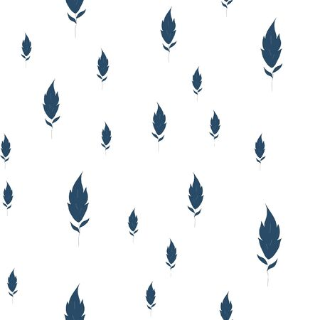 Seamless pattern is much leaves. Vector image for your design.