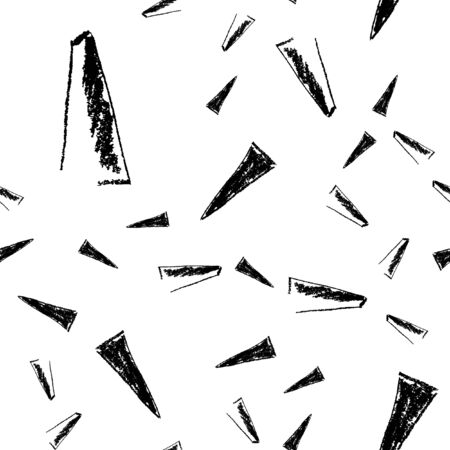 Pattern seamless triangle made of coal. For your design. Vector. Illustration