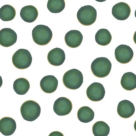 Seamless Pattern of green polka. Vector. For your design.