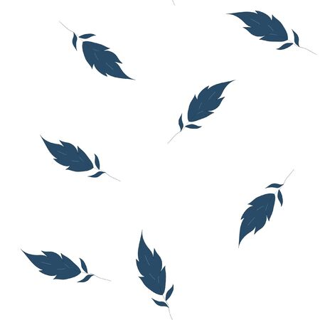Vector Seamless pattern is Very dark blue leaves. Perfect for your design.