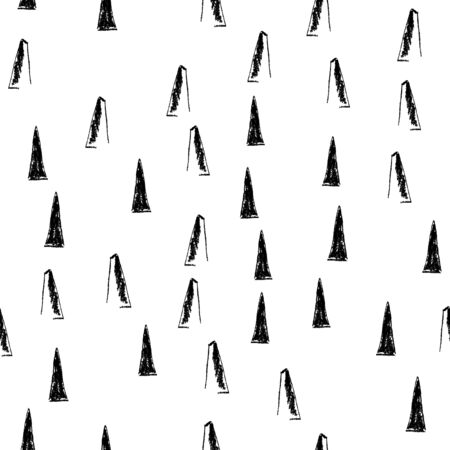 Vector seamless pattern made of coal. For your design.
