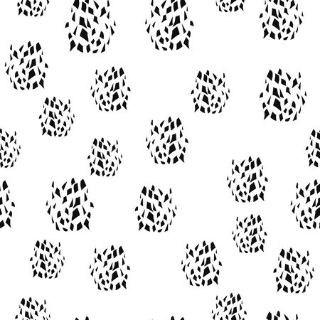 Abstract Seamless pattern with big splinters black color. Vector texture. Can be used for printing on packaging, bags, cups, laptop, box, etc. Pattern under the mask. Banque d'images - 148310612