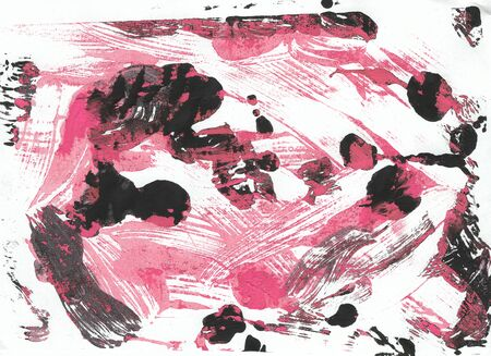Bright background hand-painted pink and black color, painting gouache. Perfect design for textile, backgrounds, packaging, posters, brochures, wallpapers, covers etc.