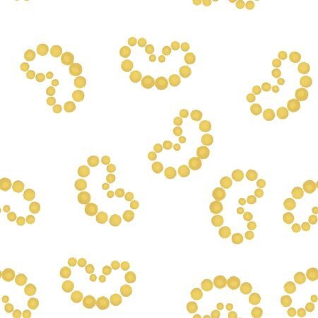 Abstract Pattern Coloring of yellow hearts. For your design. Vector. Banque d'images - 148310765