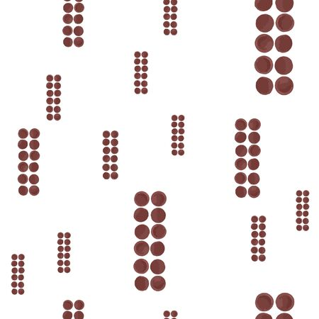 Abstract Pattern Seamless figures brown color. For your design. Vector.