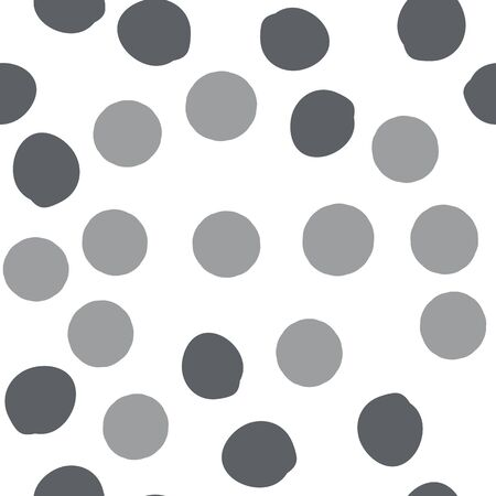 Classic Seamless Polka dot pattern of Dark grayish blue and Very dark grayish cyan color. For your design, textile, box, posters, etc. Pattern under the mask. Vector illustration. Illustration