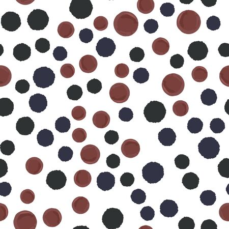 Abstract seamless pattern polka dots two in colors. Elements are not cropped. Pattern under the mask. Perfect for your design. Vector. Illustration