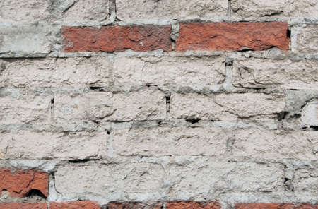 asbestos:  The old shabby brick wall for a background or structures   Stock Photo