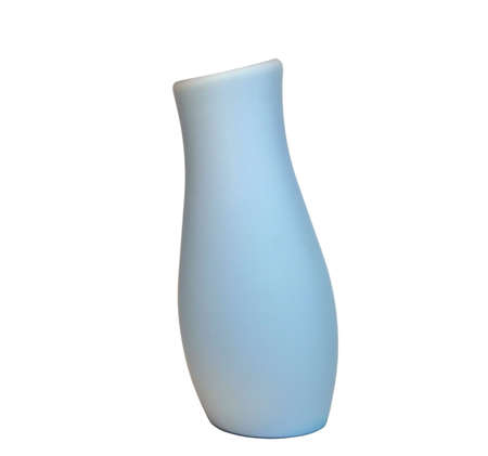 inclination: Blue vase with an inclination close up (isolated)