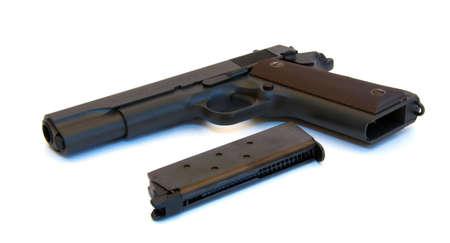 Black pistol with magazine photo