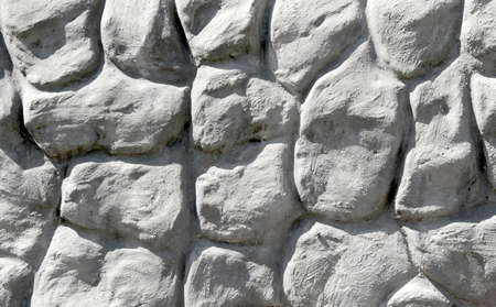 terraced: White stones wall