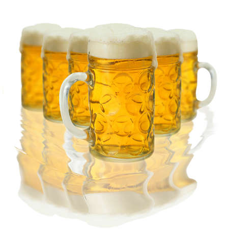 Lot of beer glass photo