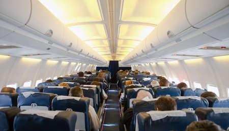 passenger plane: Plane cabin