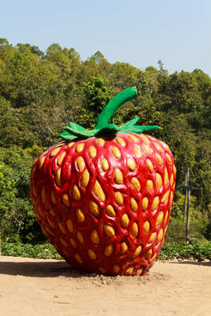 Large statues strawberries  photo