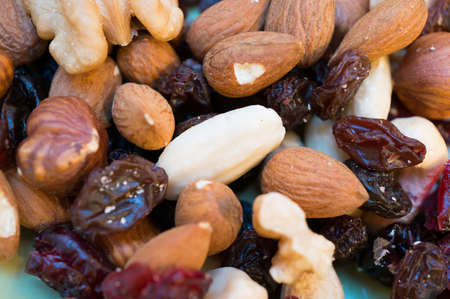 dry fruit: Close-up of nuts and dry fruit