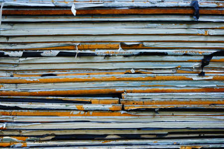 used: Stack of old used wood material