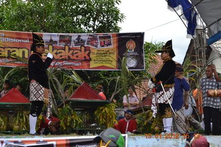 commemorate: Bekakak, Community Ritual in Ambarketawang, Jogja. ... Bekakak ritual ceremony is a ritual of indigenous Javanese culture that aims to commemorate the loyalty of one of the favorite dukes of Sri Sultan Hamengku Buwono I named Kyai Wirasuta and Nyai Wirasu Editorial