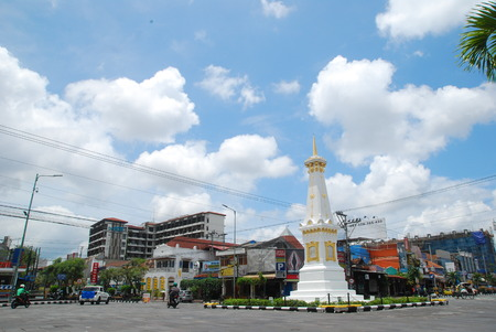 the beauty of the monument jogja in the daytime is bright