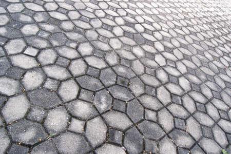 concrete blocks tiles walkway photo