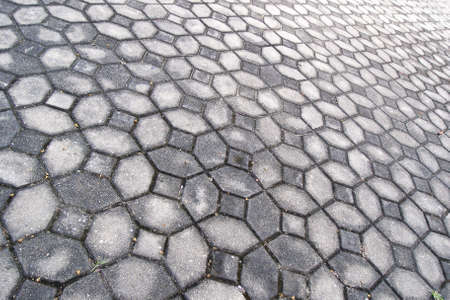 concrete blocks tiles walkway Stock Photo - 10683408