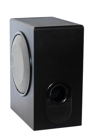 stereo subwoofer: Subwoofer, Box - Container, Speaker, Black Color, Stereo