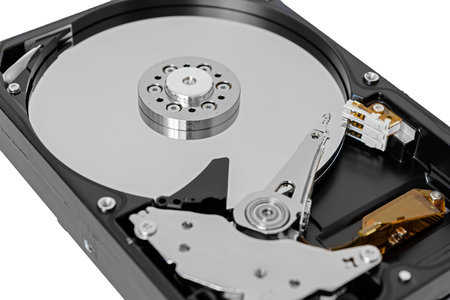 hard disk drive: Computer hard disk drive with clipping path isolated on white background Stock Photo