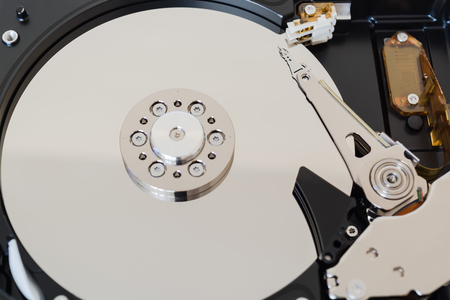 hard disk drive: Computer hard disk drive with clipping path - isolated