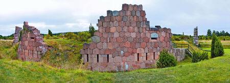 sund: Bomarsund fortress ruins in Sund, Aland Islands. Stock Photo