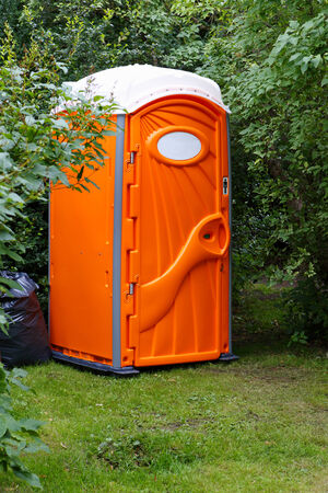 relocated: Short-term public toilet in town  can be relocated