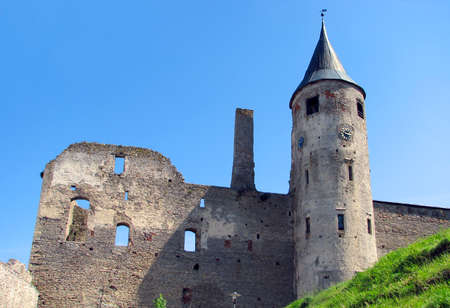 ruins of old bishop�s castle in Haapsalu, a favorite summer town among tourists