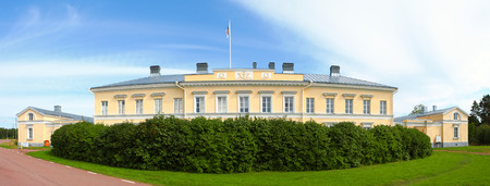 Bericht Customs House in Ecker gebouwd in 1828; locatie Aland-eilanden, Finland