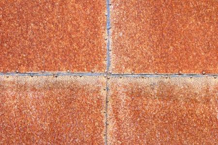 rustproof: rusty surfice texture of iron sheet illustrating corrosion