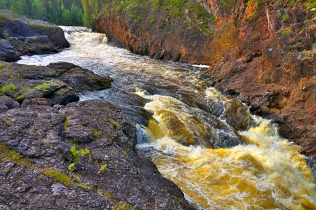 wildlife preserve: Oulanka river in Oulanka wildlife preserve in summer, Finland. Stock Photo